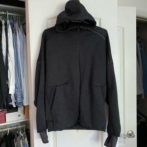 Black Adidas Hoodie - Fleece Lined Medium
